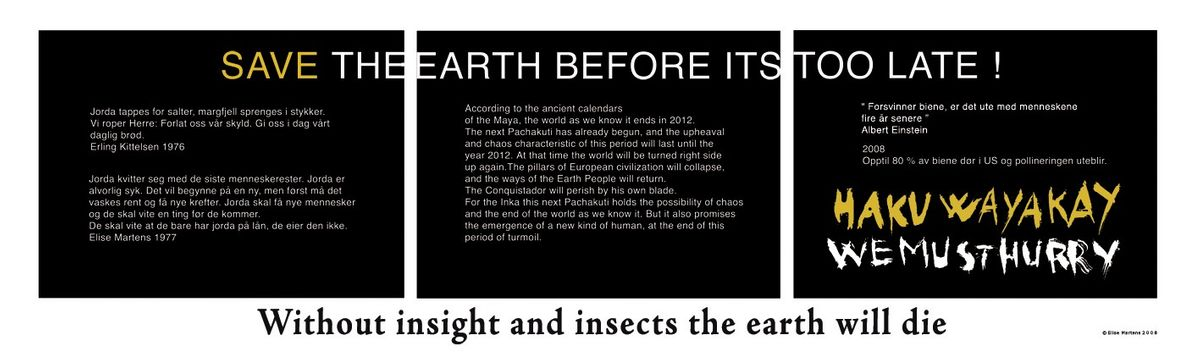 Save the earth before its too late! 2008 © elisemartens.no